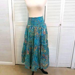 Ralph Lauren cotton boho ruffle skirt sz small *F